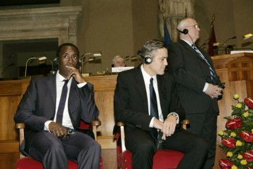 George Clooney and Don Cheadle, Man of Peace Award