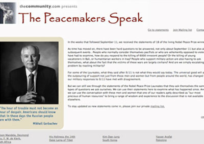 Web and Social Media: The Peacemakers Speak
