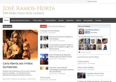 Web and Social Media: Nobel laureate José Ramos-Horta