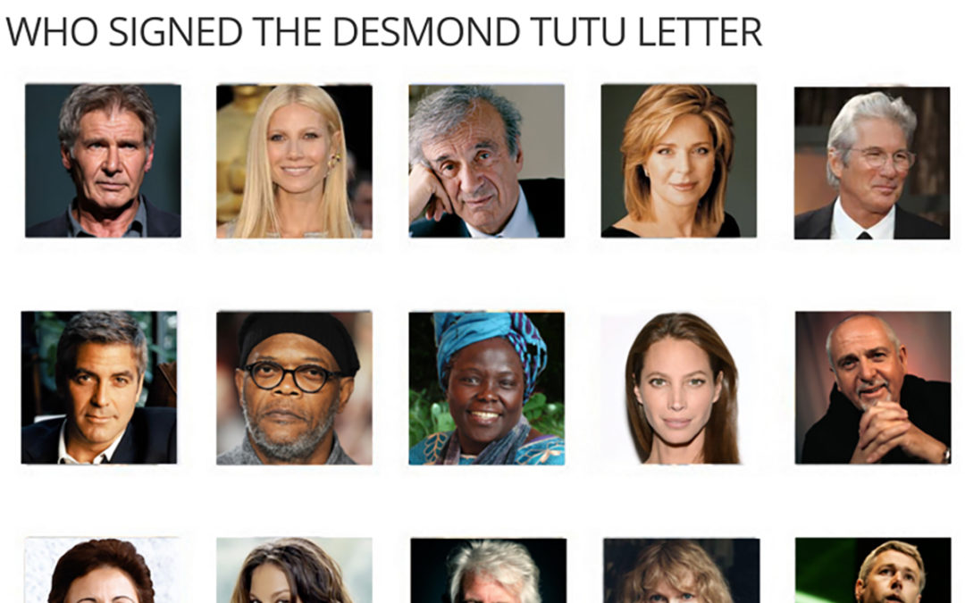 Tutu to China: The Signatories